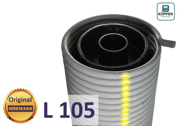 Hörmann Torsionsfeder L105 mit Kunststoffrohr und Spannkonus