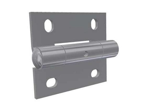 Scharnier für die Mitte in Edelstahl 65 x 50 x 2,8 mm mit