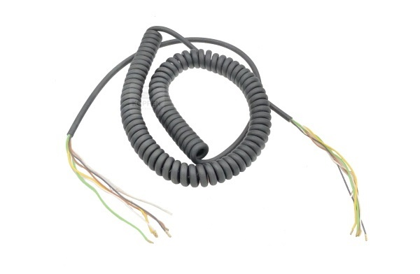 Spiralkabel oder Wendelleitung 5-adrig bis 3000 mm Torhöhe,