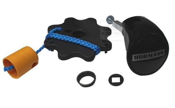Torgriffgarnitur N80 / F80 schwarz Knauf und Griffscheibe