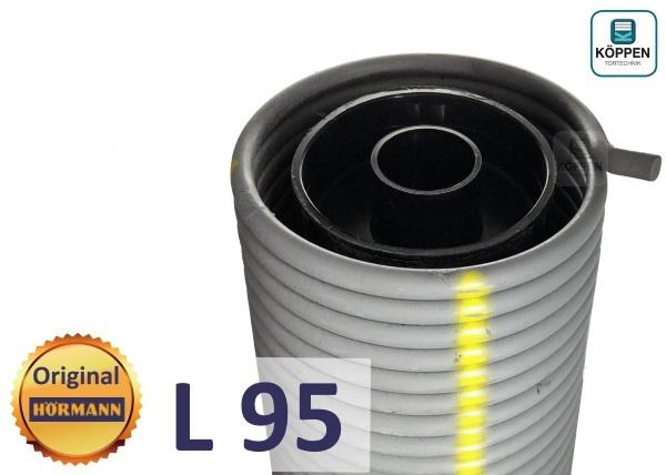 Hörmann Torsionsfeder L95 mit Kunststoffrohr und Spannkonus