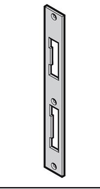 Schließblech einer Sonder Nebentür DIN rechts