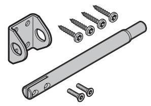 Schubriegel Set für Verschluss vertieft zu Hörmann Industrie