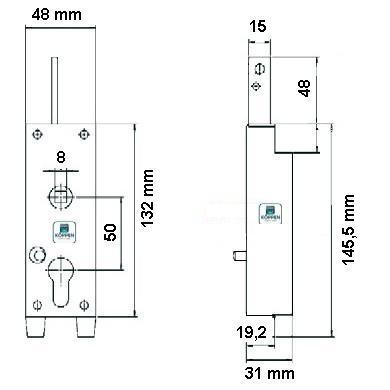 garagentorschloss mit verriegelung nach oben torsionsfedern und zugfeder f r schwingtor und. Black Bedroom Furniture Sets. Home Design Ideas