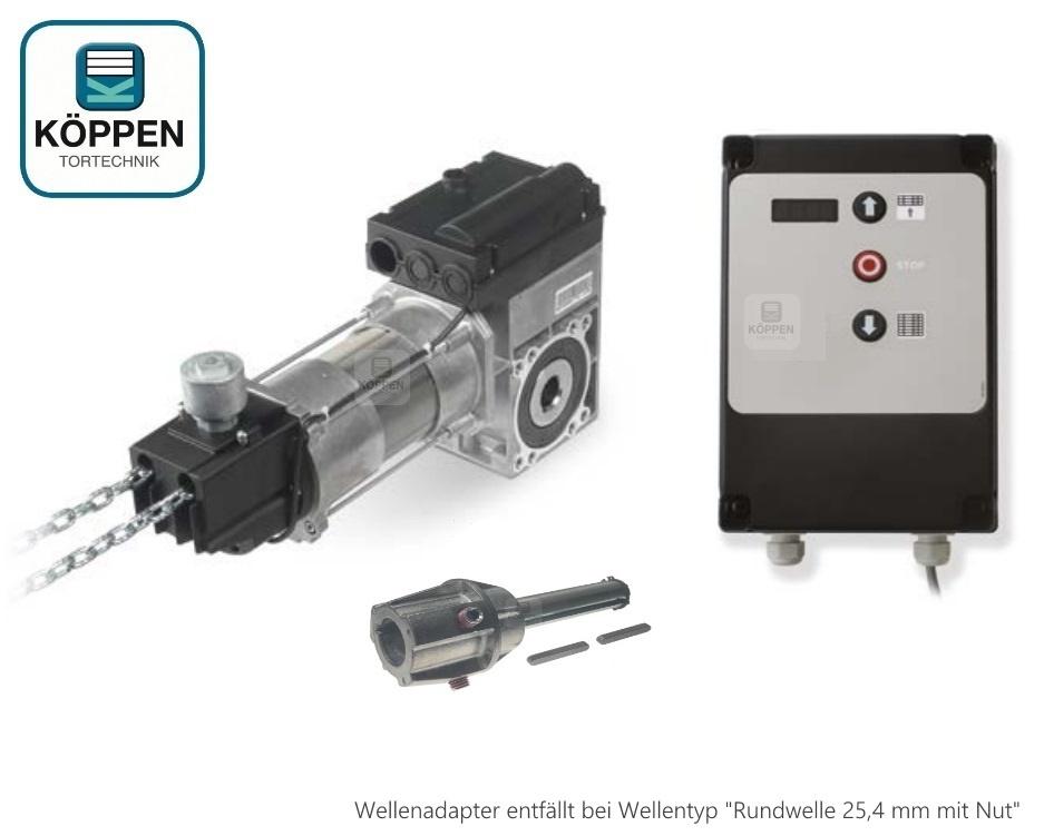 Antriebs Kit Sektionaltorantrieb Totmann 100 Nm mit Notkette