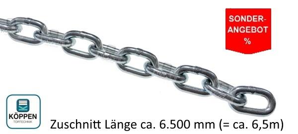 Haspelkette Stahl verzinkt 4 mm zugeschnitten ca. 6,5m Länge