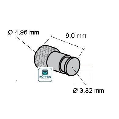 arretierstift f r federband 3 82 mm an feuerschutzt r und h rmann ersatzteile g nstig f r. Black Bedroom Furniture Sets. Home Design Ideas