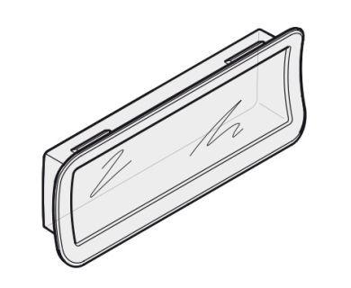 Verglasungselement für ein Außen-Rolltor