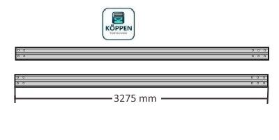 Laufschiene waagerecht rechts und links Länge +/- 3275 mm