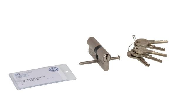 Profilzylinder 31,5 + 40,5 mm mit 5 Schlüsseln und Karte