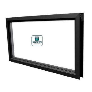 Fenster rechteck  Kunststoff 2 teilig Klicksystem 680x370