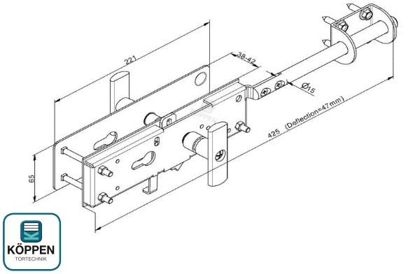 schloss zylinderschloss f r sektionaltor h rmann ersatzteile g nstig f r tore und mehr. Black Bedroom Furniture Sets. Home Design Ideas