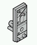Schlossträger TS42mm f.Außengriffgarnitur Kunststoff schwarz