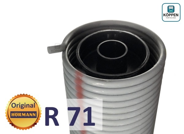 Hörmann Torsionsfeder R71 mit Kunststoffrohr und Spannkonus