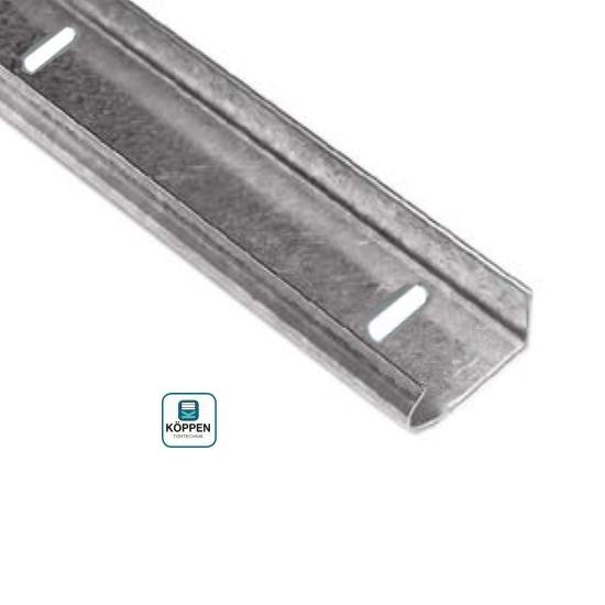 Laufschiene 26 x 56 ist 2  verzinkt gelocht L= +/- 2250 mm