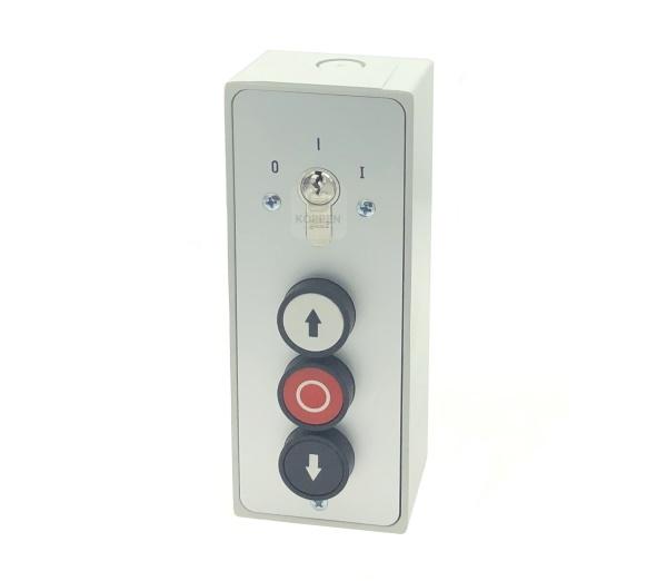 Schlüsseltaster mit Dreiknopftaster ( AUF-STOPP-ZU) mit