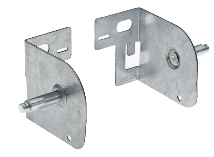 Stützwinkel Set Rechts und Links für Isomatic Sektionaltor