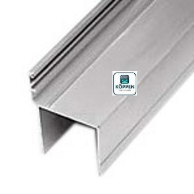 Schlupftürprofil / Anschlagprofil aus Aluminium Länge : +/-