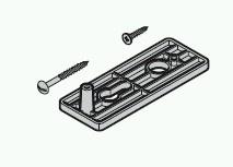 Griffschild schwarz  passend zu Hörmann N80 / F80 / Schlupf-