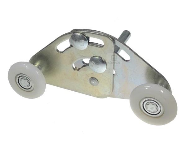 Tandemlaufrolle mit Achse Ø 12 mm und Achslänge +/- 102 mm