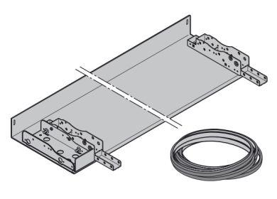 Sturzblende Konsolenhöhe 335 mm für Hörmann RollMatic