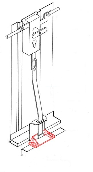 bodenschuh f r verriegelung senkrecht f r siebau novoferm h rmann ersatzteile g nstig f r. Black Bedroom Furniture Sets. Home Design Ideas