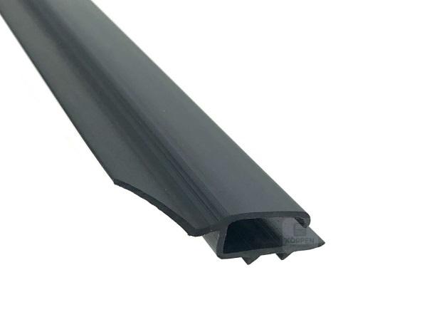 Seitendichtung flach, grau aus Hart PVC mit flex. Elastomer