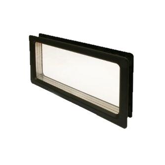 Fenster rechteck Kunststoff schwarz als Schraubmontage 638 x