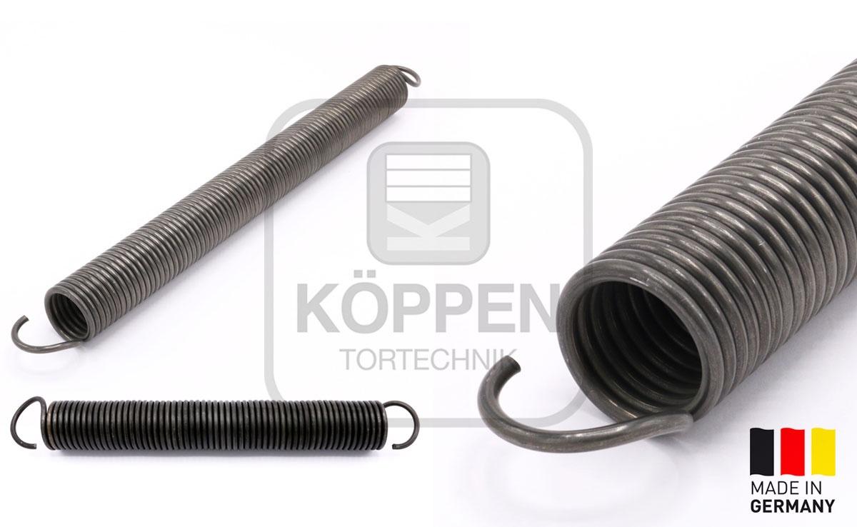 Zugfeder Garagentorfeder WD 4,0 AD 42 L= 410 mm deutsche Öse