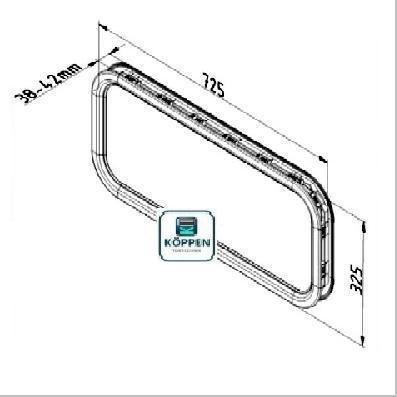 Fenster oval kunststoff 2 teilig klicksystem h rmann for Garagenfenster kunststoff