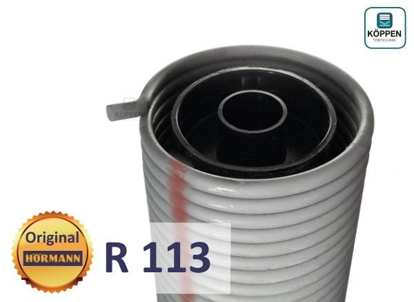 Hörmann Torsionsfeder R113 mit Kunststoffrohr und Spannkonus