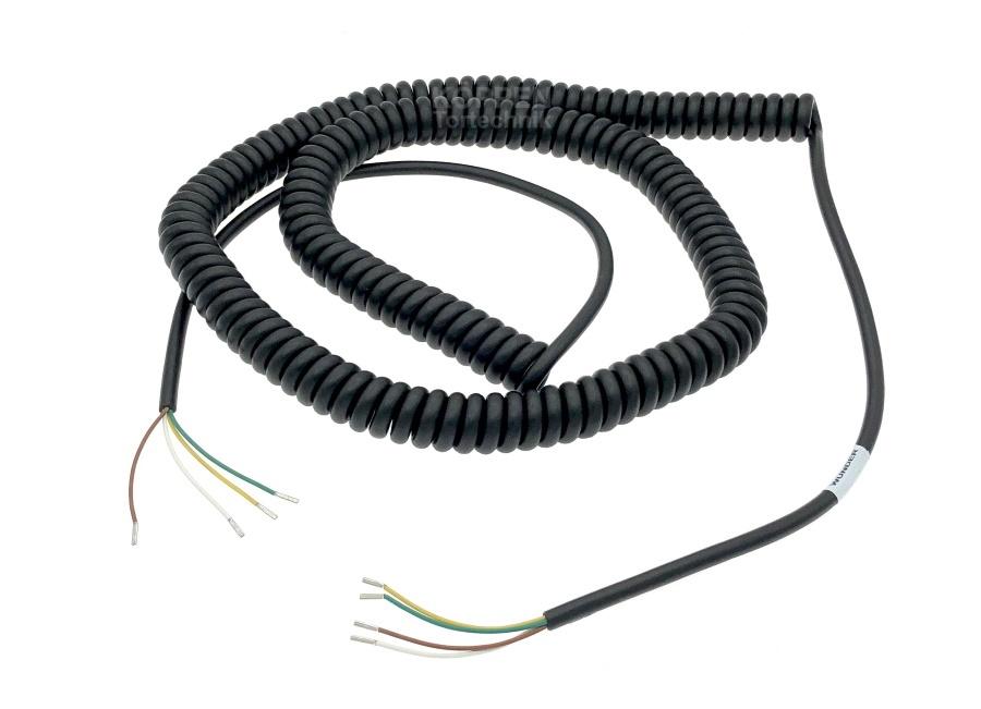 Spiralkabel oder Wendelleitung 4-adrig Wendellänge +/- 900mm