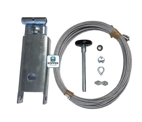 Sicherheitsseil Set mit Toprollenhalter , Laufrolle und