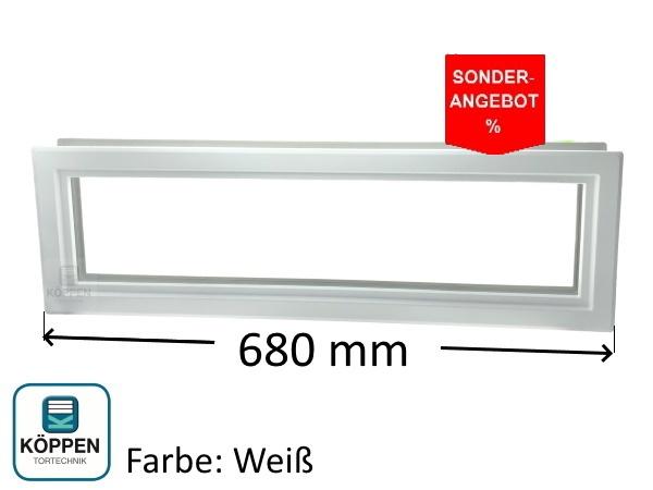 Rahmen Weiß Typ D 680 mm für doppelwandige Torglieder 42 mm