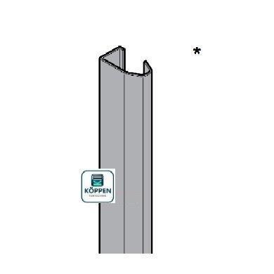 Laufschiene senkrecht rechts verzinkt Länge +/- 2425 mm mit