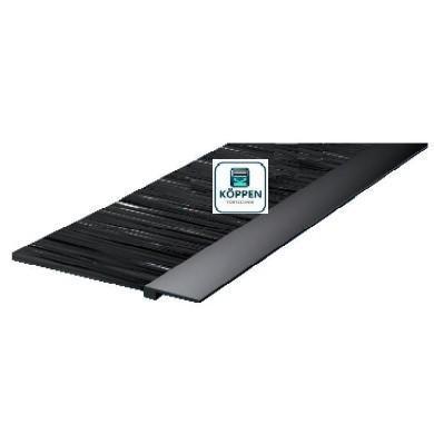Bürstendichtung / Sturzdichtung Höhe 100 mm Lieferlänge: