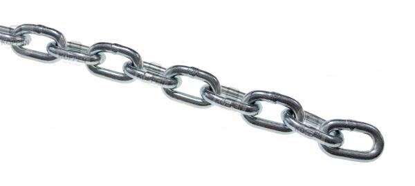 Haspelkette Stahl verzinkt 4 mm zugeschnitten ca. 4 m Länge