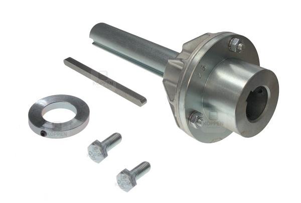 Adapter zum Aufstecken von 25 mm mit Nut auf 25,4 mm mit Nut