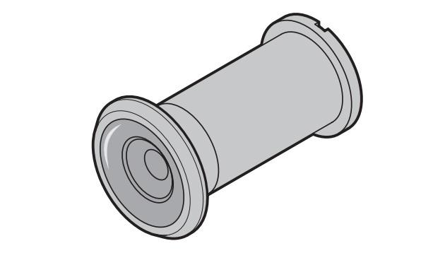 Türspion Hörmann für Einbaustärke 25 - 38 mm