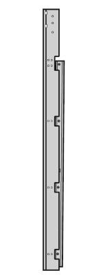 Winkelzarge-Seitenteil (senkrecht) rechts Beschlag L und LD