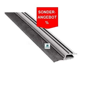 Seitendichtung flach, grau aus Hart PVC L= +/- 2530 mm