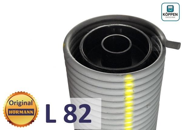 Hörmann Torsionsfeder L82 mit Kunststoffrohr und Spannkonus