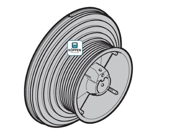 Seiltrommel Größe 4 links passend zu Hörmann Industrie-