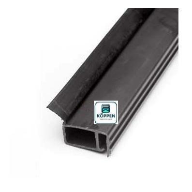 Seitendichtung hohe Ausführung (PVC) L= +/- 4900 mm für