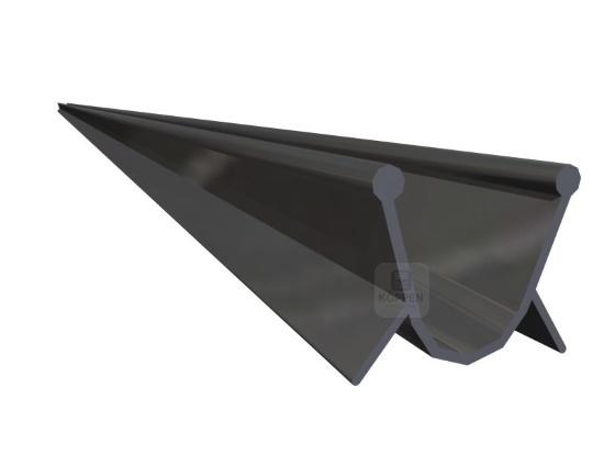 Bodengummi Standard für Rundaufnahme schwarz aus EPDM