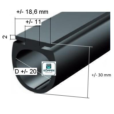 bodengummi dw f r rolltore typ universal mit mittelaufnahme h rmann ersatzteile g nstig f r. Black Bedroom Furniture Sets. Home Design Ideas