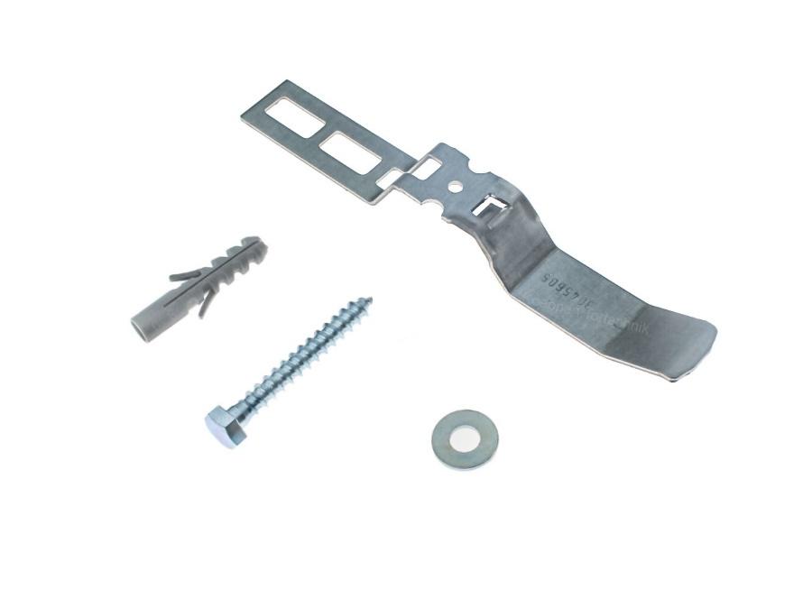 Befestigungszubehör einwandige Stahlblende 95 mm (1 Klammer)