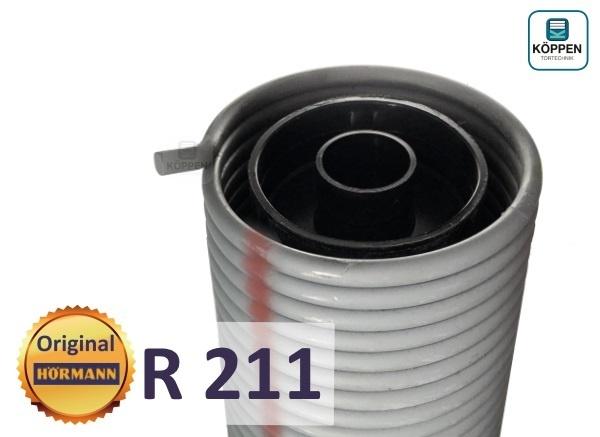 Hörmann Torsionsfeder R211 mit Kunststoffrohr und Spannkonus