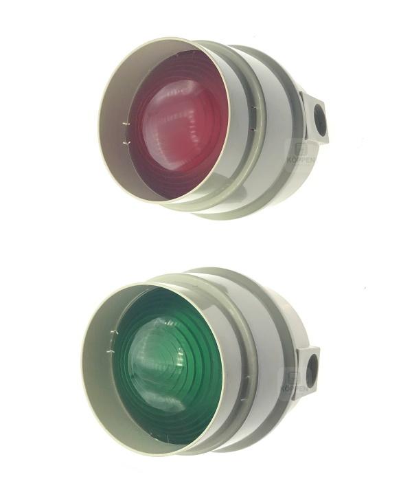 Ampel Warnampel / Signalampel rot und grün Ø 135 mm