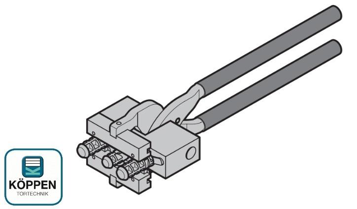 Prägezange für Gleiter Hörmann RollMatic